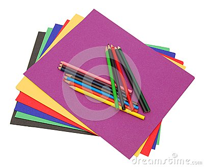 A stack of colored file folders