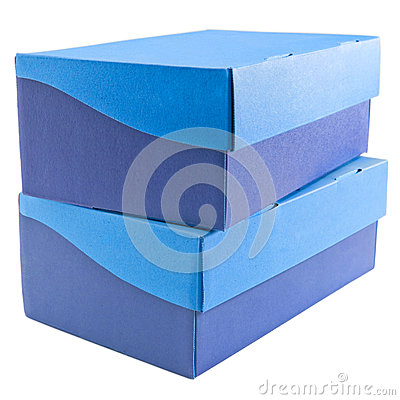 Two Stacked Shoe Boxes