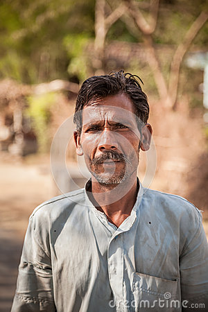 Indian villager man
