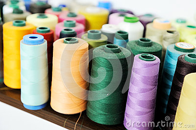 Colored sewing spool