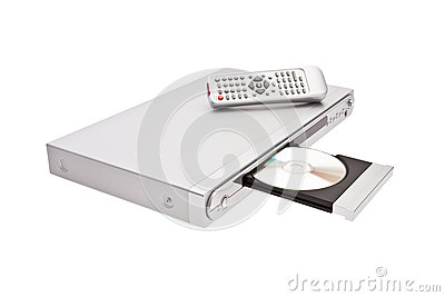 DVD player ejecting disc with remote control isola