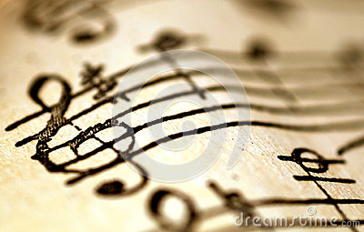 Treble clef, music concept