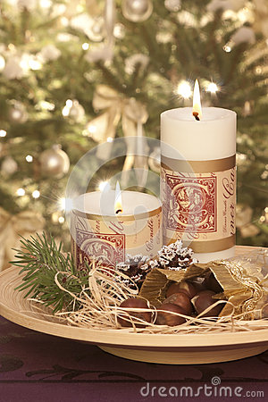 Candles at christmastime