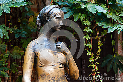 Statue of Juliet Capulet in Her House Backyard