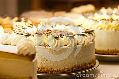 Torte in a bakery