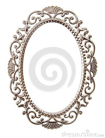 Oval ornate frame