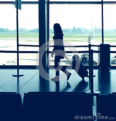 stock image of airport travel