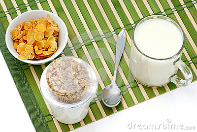 Cereal and milk diet.