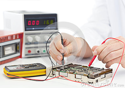 stock image of electronics engineer