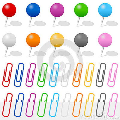 Push Pins and Paper Clips Set