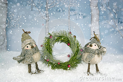Christmas Birds Wreath