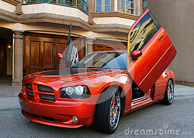 Red American Sports Car