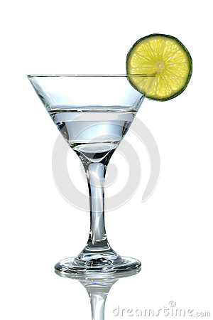 Martini Glass With Lime