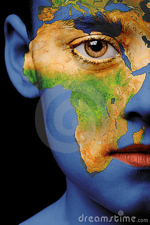 Face paint - africa