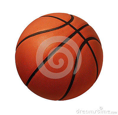 stock image of basketball isolated