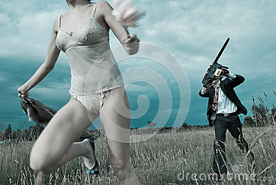 stock image of run for food.