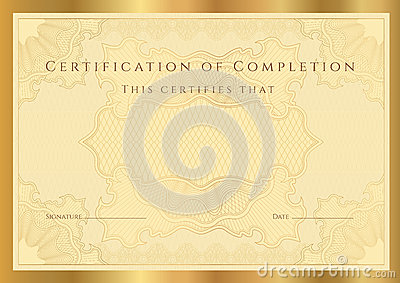 Certificate diploma of completion (template)