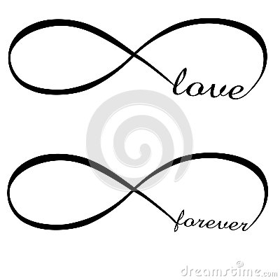 Infinity love and forever symbol