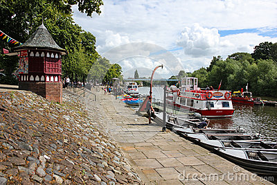 River Dee Quayside. Chester. England