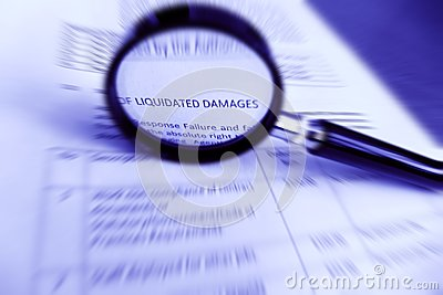 Study contract, Liquidated Damages specifications