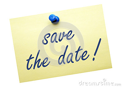 Save the Date Note