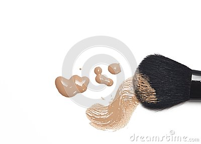 Foundation with makeup brush