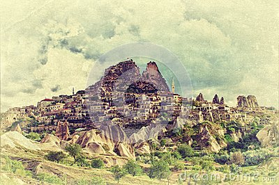 The Uchisar castle in Cappadocia