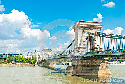Old Chain Bridge in Budapest