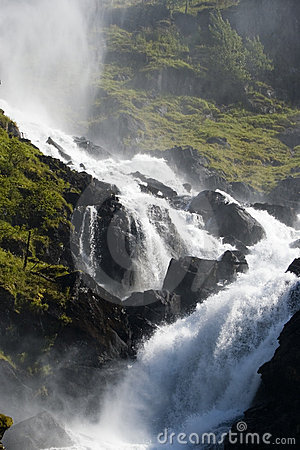 Mountainside waterfall