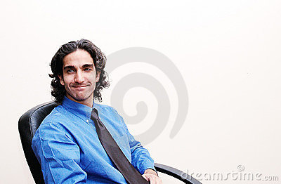 Businessman in his chair