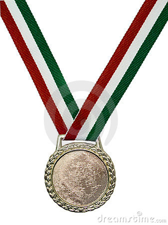 Green & Red Ribbon Medallion
