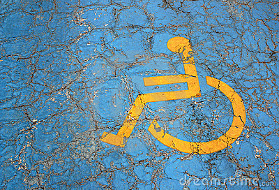 Handicap parking place