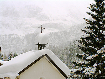 Austrian Chapel in snow