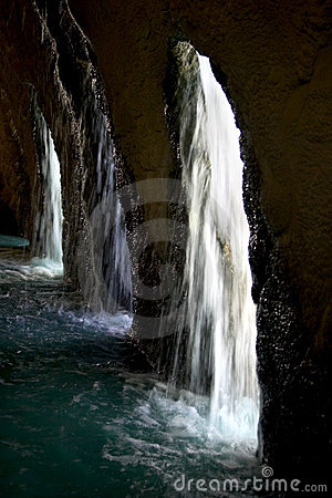 Otherside of the waterfall