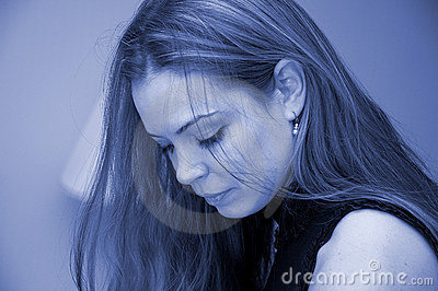 Woman portrait in blue