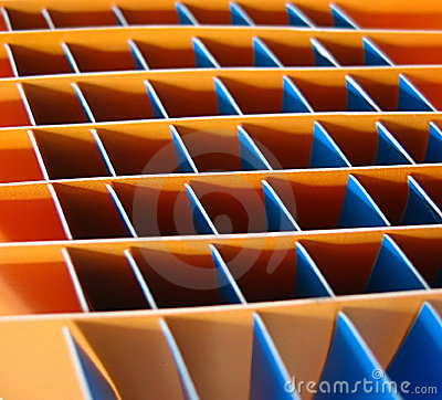 Orange and blue squares