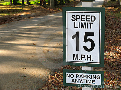 Speed limit 15mph
