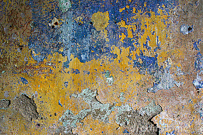 grunge texture of peeling wall