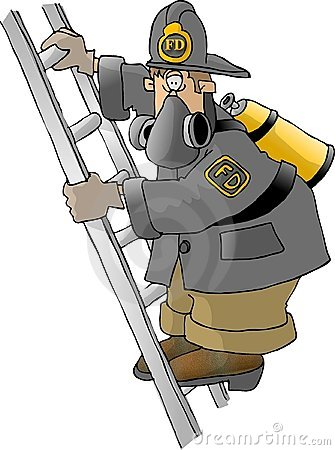 Fireman on a ladder