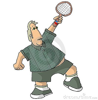 Portly Tennis Player