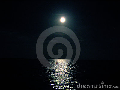 Moon and Ocean night