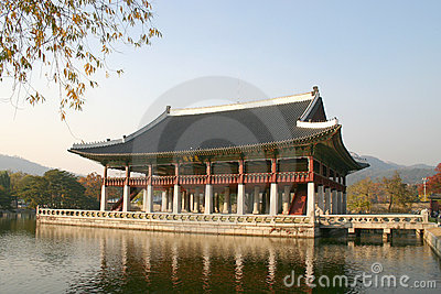 Kyongbok Palace meeting hall, Korea