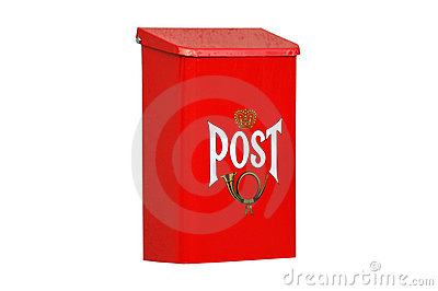 Isolated Red Mail Box