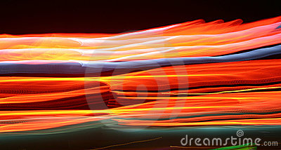 Abstract,glowing lights at night