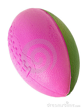 Toys: Foam Football in Pink and Green