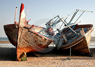 Abandoned dhows