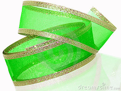 Green & Gold Ribbon