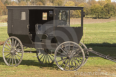 Shattered Amish buggy glass
