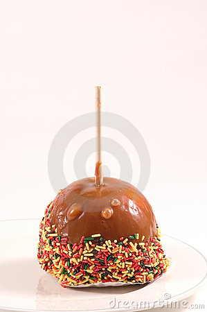 Caramel Apple with sprinkles
