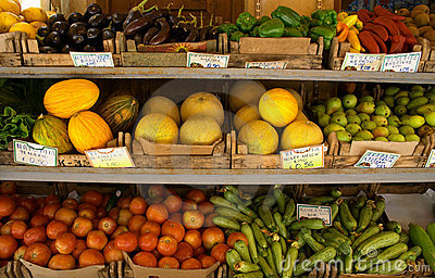 Fruiterer's display